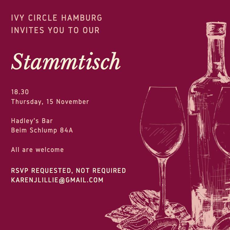 Hamburg: IvyCircle November Stammtisch