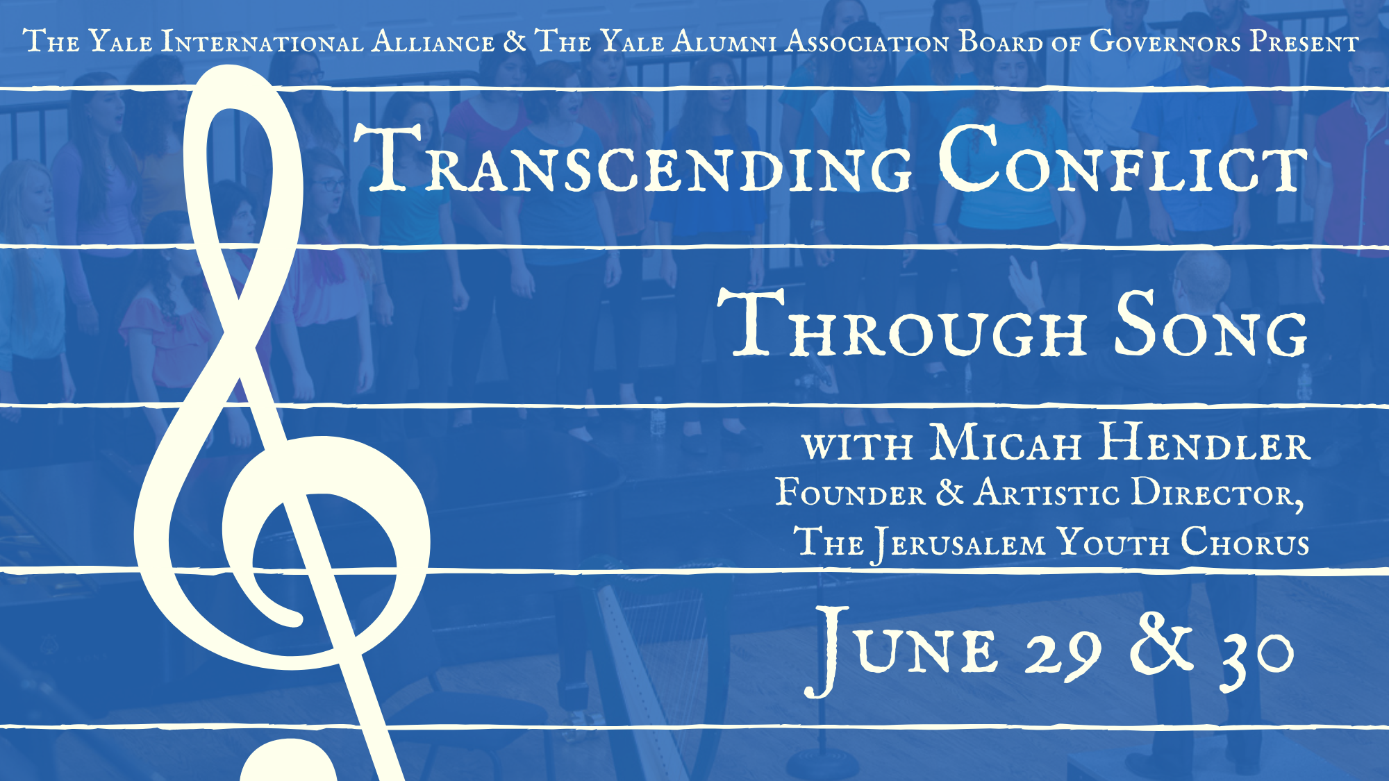 Transcending Conflict Through Song with Micah Hendler '11, Founder The Jerusalem Youth Chorus